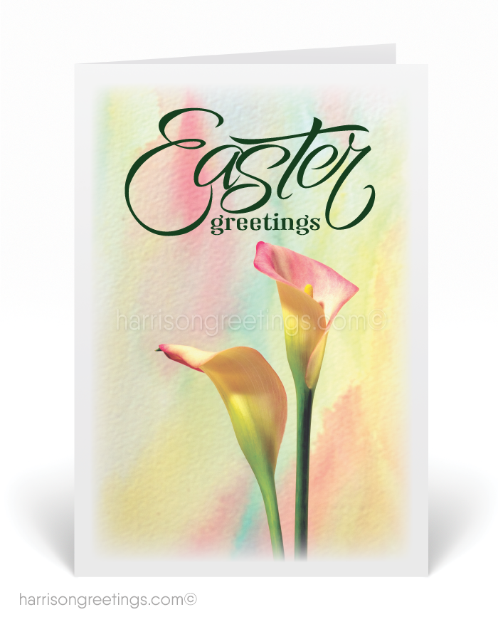 Happy Easter Lily Greeting Card