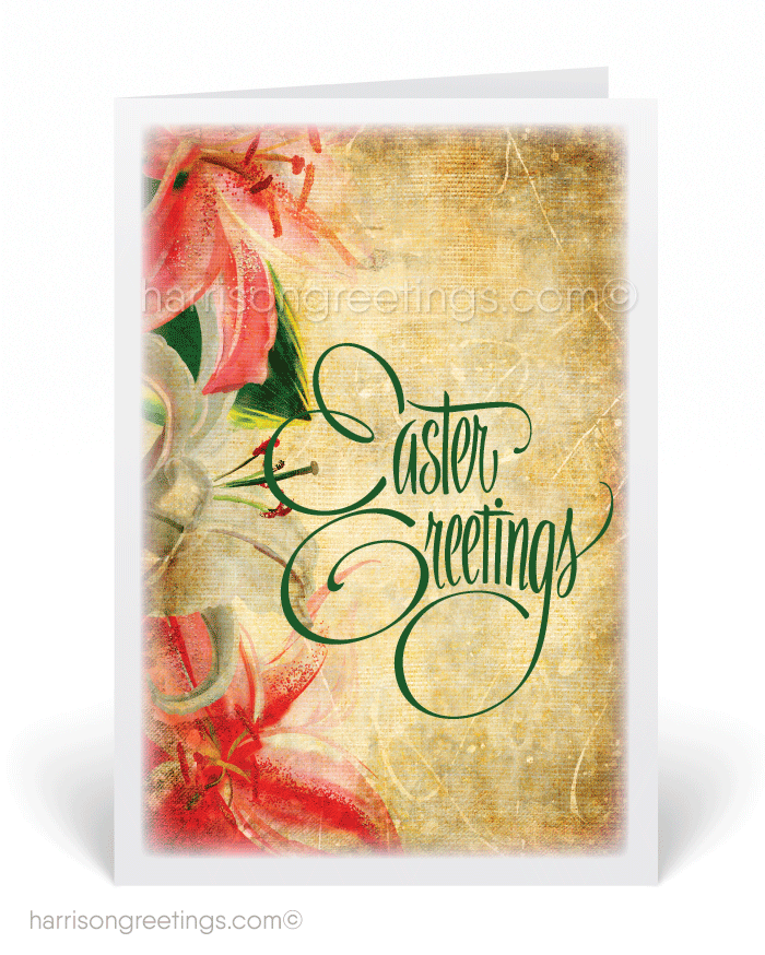 Vintage Lily Easter Greeting Cards