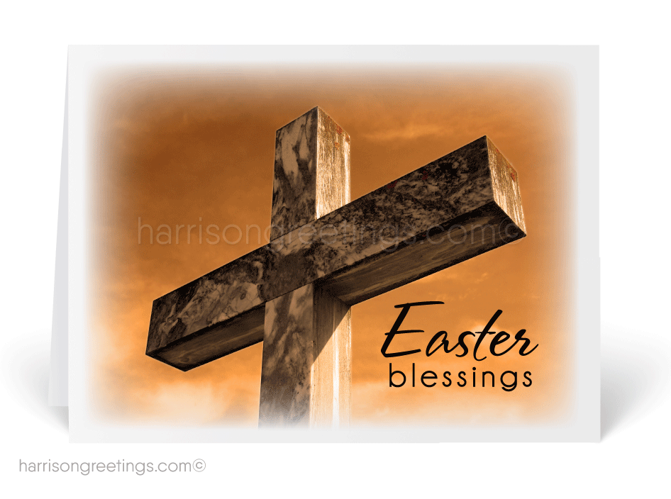 Religious Cross Easter Greeting Cards