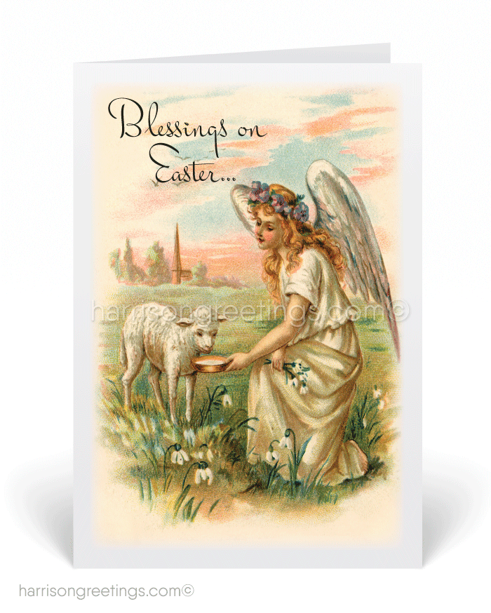 Victorian Vintage Easter Greeting Cards