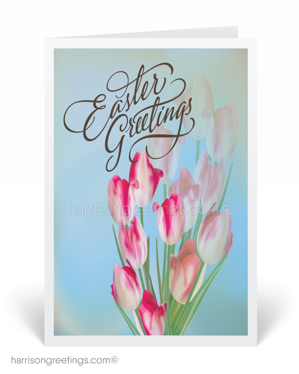 Flower Easter Greeting Card