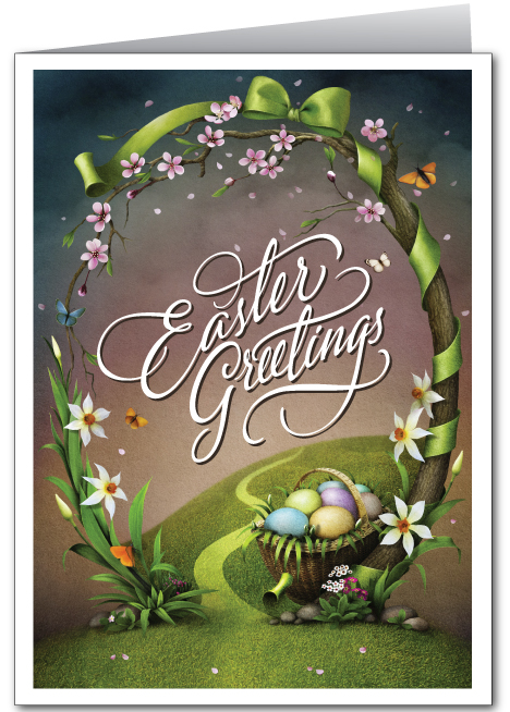 Spring Easter Greeting Card