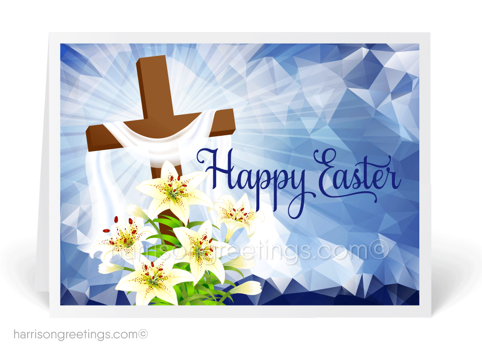 Modern Happy Easter Greeting Cards