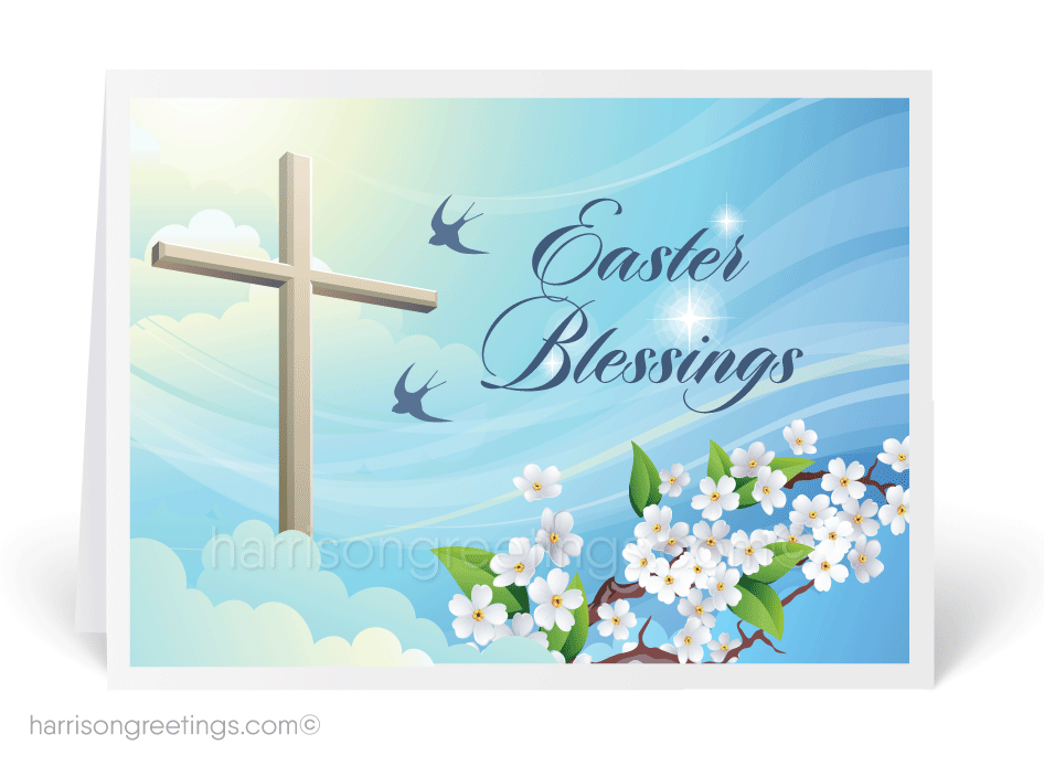 Christian Cross Easter Greeting Card