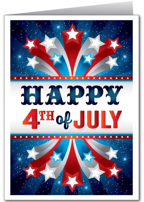 Stars and Stripes 4th of July Card
