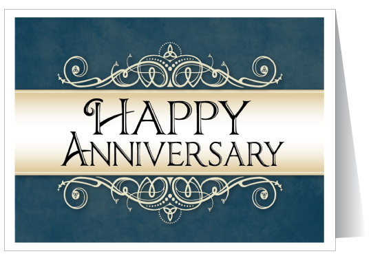 Business anniversary greeting card ministry
