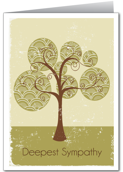 Trees Sympathy Greeting Card