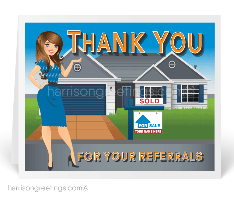 thank you for your referral real estate agent card 15226 ministry greetings christian cards. Black Bedroom Furniture Sets. Home Design Ideas