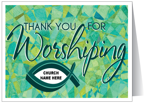 Thank You For Worshiping Card