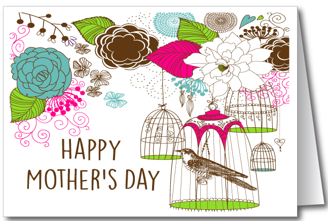 Vintage Birdcage Mother's Day Cards