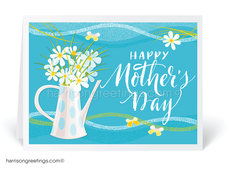 Modern Floral Mother's Day Cards