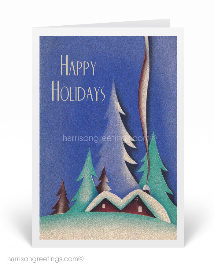 1920s Art Deco Vintage Christmas Cards [SW125] : Ministry Greetings ...
