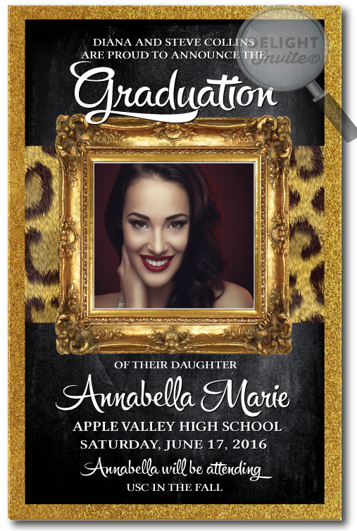 2016 Graduation Party Invitations Grad Announcements