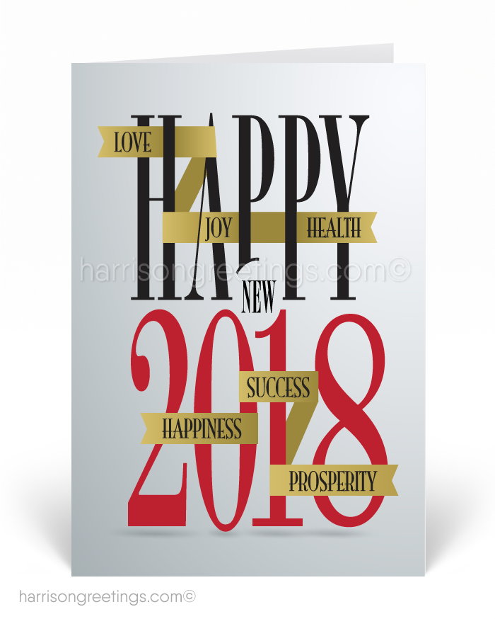 2018 Happy New Year Greeting Cards [7576] : Ministry Greetings ...