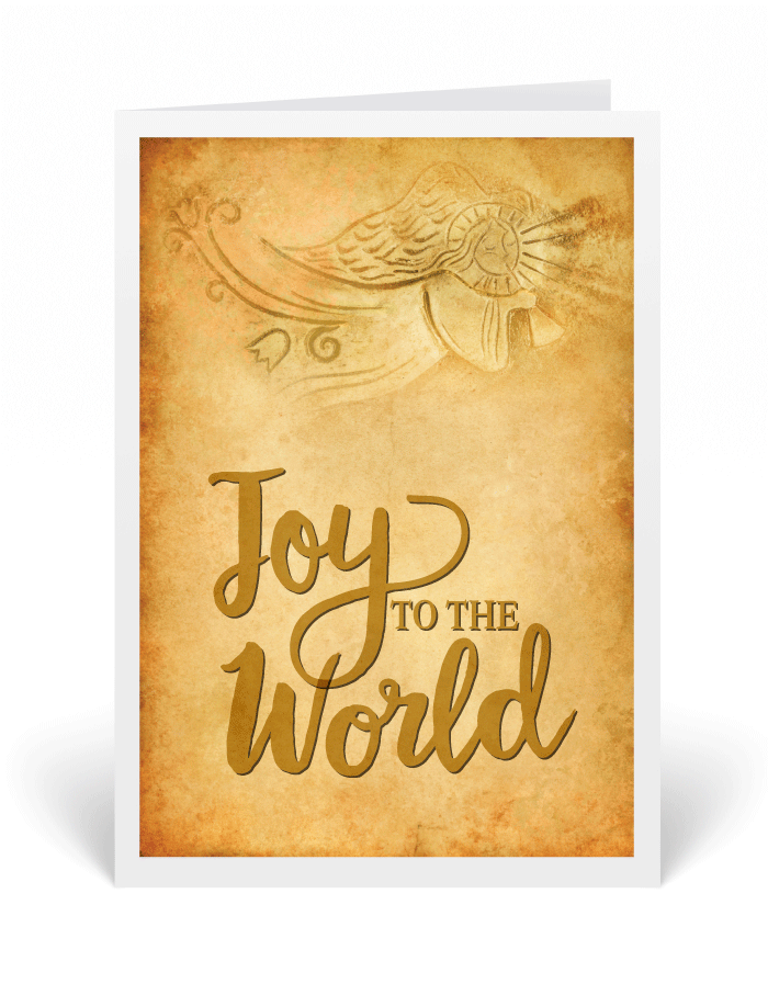 Rustic Angel Vintage Christmas Cards