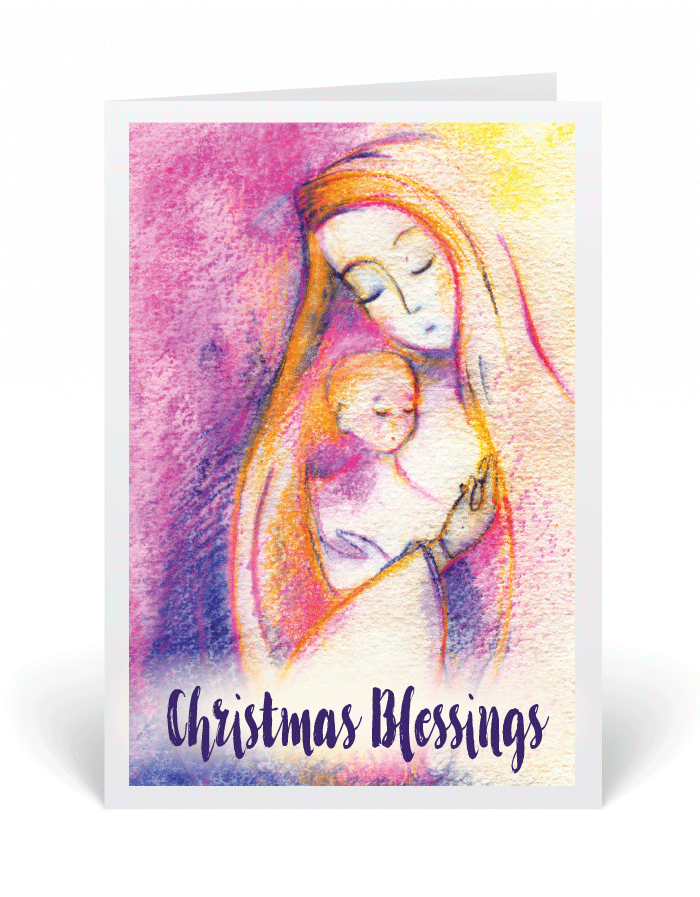 Vintage Watercolor Christian Christmas Cards [3156] : Ministry ...