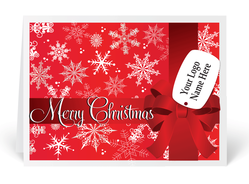 Retro Snowflakes Red Merry Christmas Card [3165] : Ministry ...