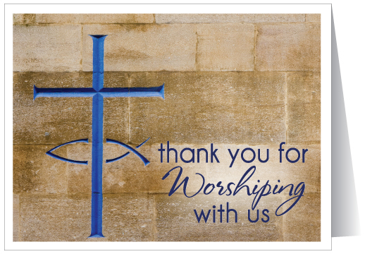 Thank You for Worshipping Card