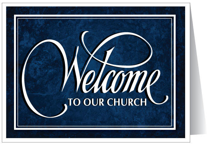 Welcome to Our Church Card