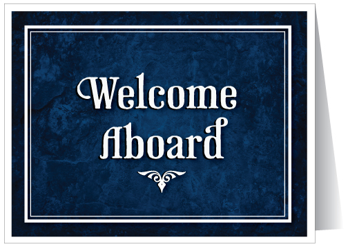 Welcome Aboard Greeting Card - Click Image to Close