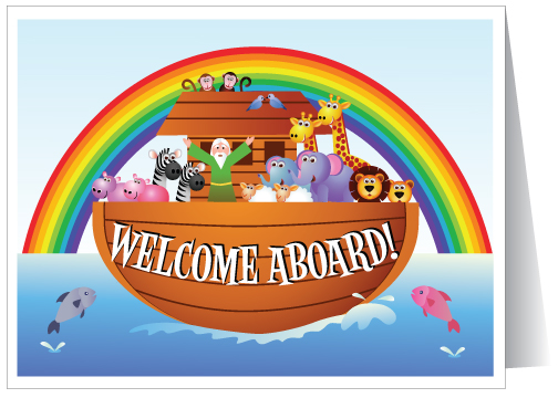 Welcome aboard cards ministry greetings christian cards church noahs arc welcome aboard to church m4hsunfo