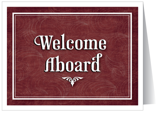 Welcome aboard cards ministry greetings christian cards church welcome aboard greeting card m4hsunfo