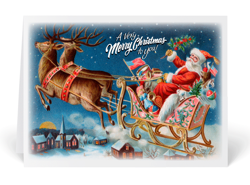 Old Fashioned Christmas Cards Ministry Greetings