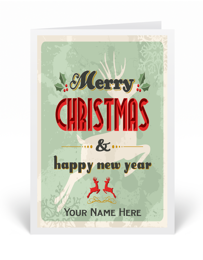 Vintage Hipster Holiday Greeting Cards [36557] : Ministry Greetings ...