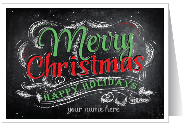 Chalkboard Merry Christmas Holiday Card