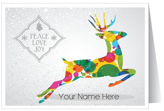 contemporary modern holiday greeting card - Modern Holiday Cards