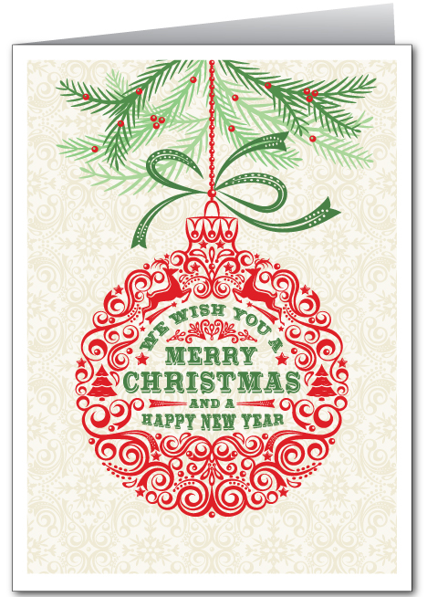 Merry Christmas Ornament Holiday Card