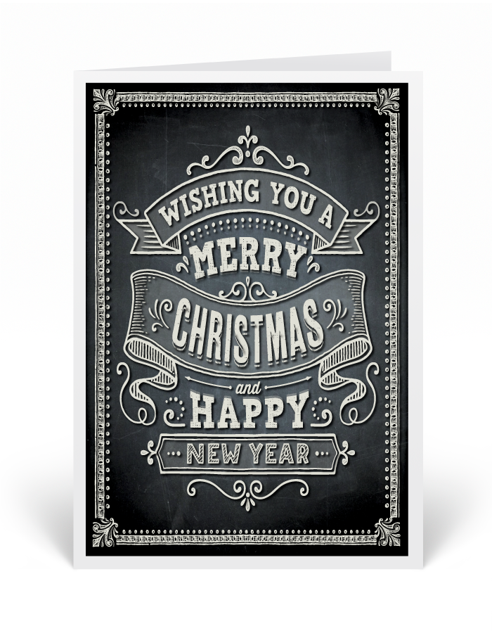 Merry Christmas Chalkboard Holiday Card [36671] : Ministry ...
