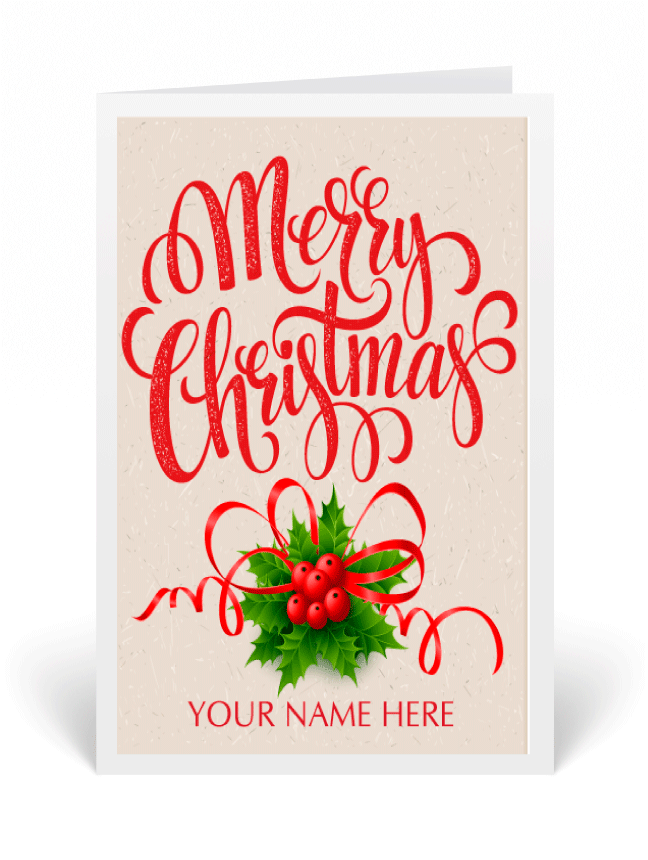 Whimsical Holiday Greeting Card [36753] : Ministry Greetings ...