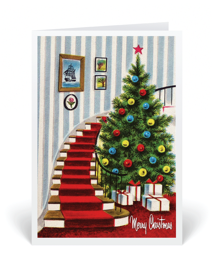 1950s vintage holiday christmas card 36953 ministry