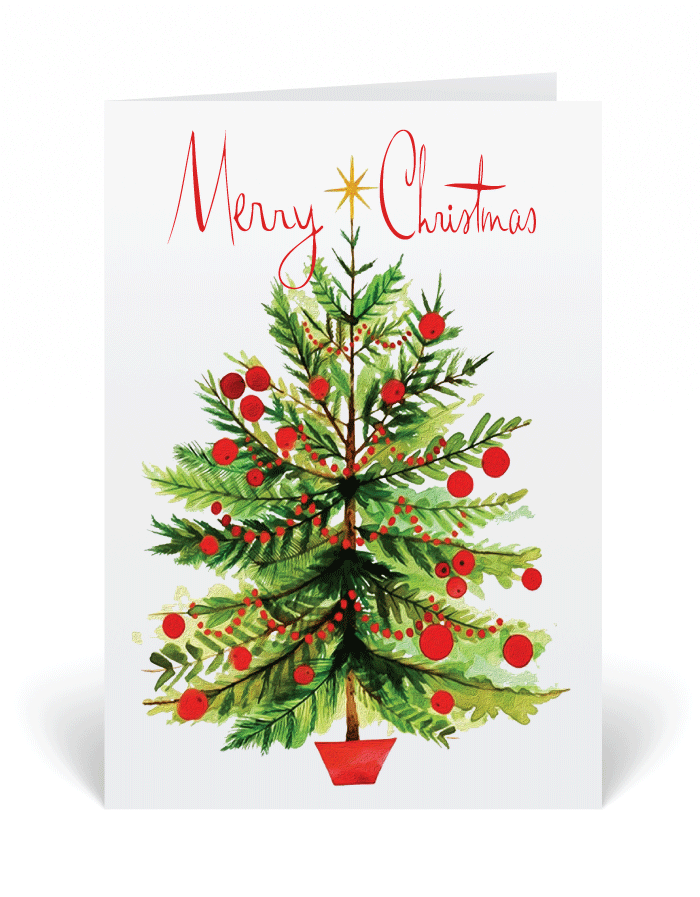 Merry Christmas Watercolor Holiday Cards [36962] : Ministry ...