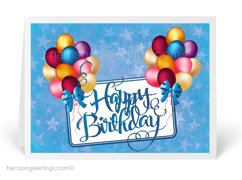 Watercolor Happy Birthday Cards [3892] : Ministry Greetings ...