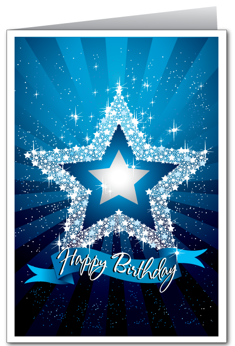 Modern Star Birthday Card