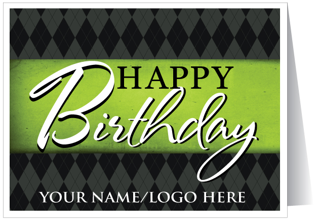 Happy Birthday Logo Card