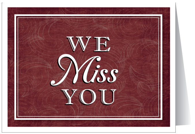 We miss you cards ministry greetings christian cards church we miss you at our service m4hsunfo