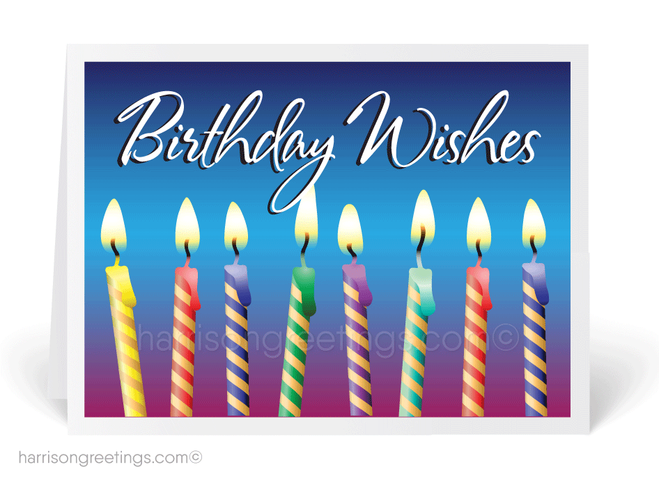 Modern Candles Happy Birthday Cards 39061 Ministry Greetings