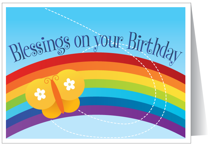 Blessings on Your Birthday Card