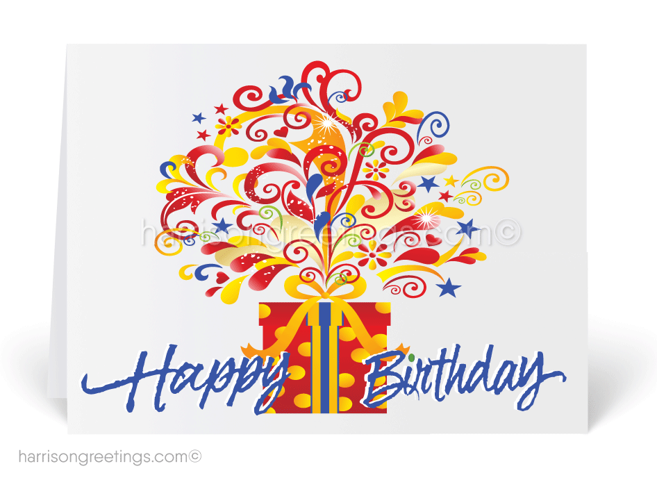 Contemporary Happy Birthday Card