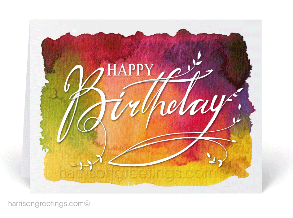 Watercolor Happy Birthday Cards