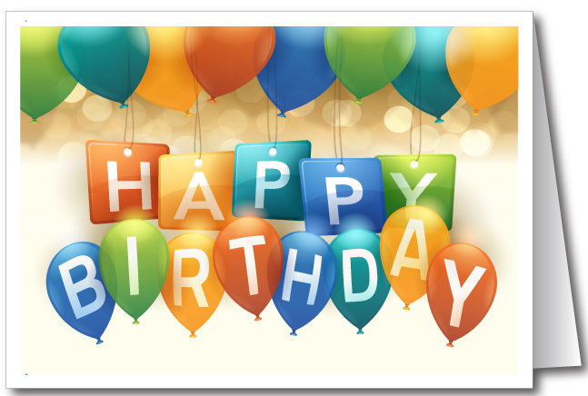 Contemporary Happy Birthday Greeting Cards