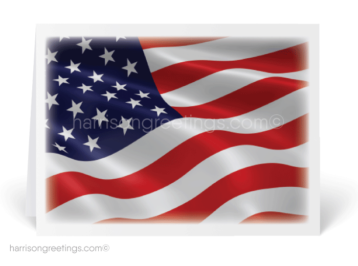 American Flag July 4th Greeting Card