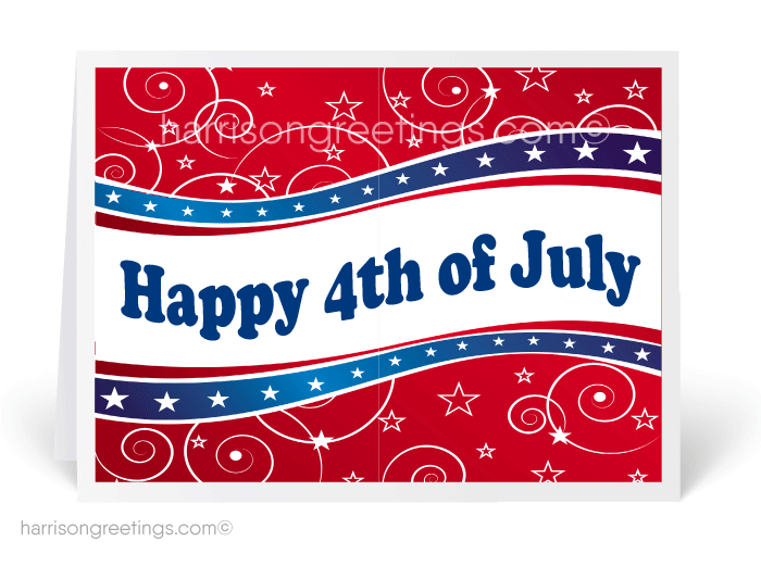 American July 4th Greeting Card