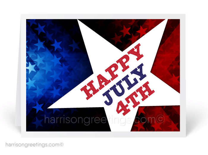 Patriotic July 4th Greeting Cards