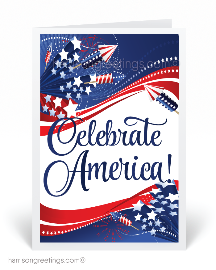Celebrate America 4th of July Card