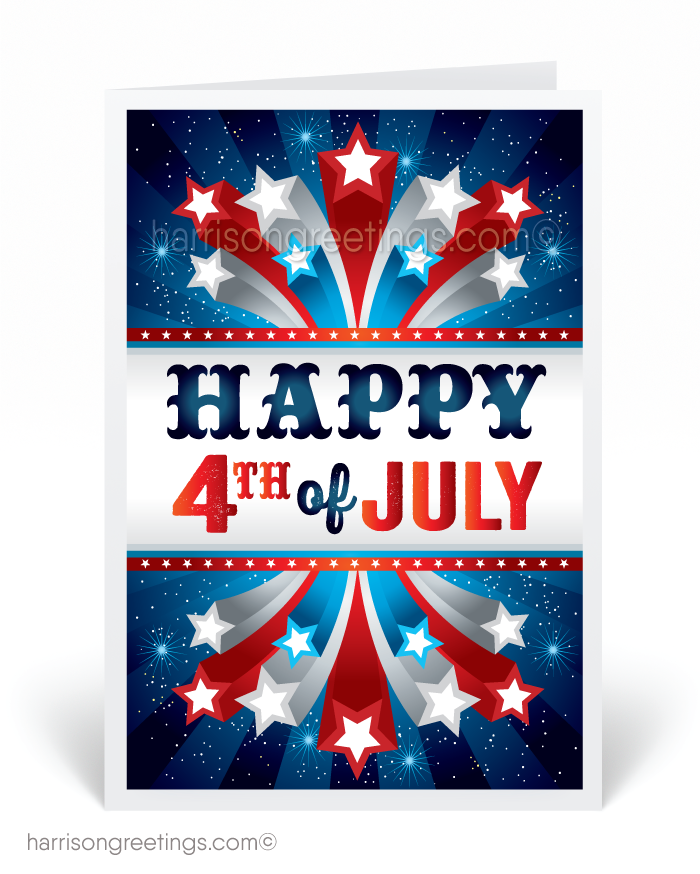 Stars and Stripes 4th of July Cards