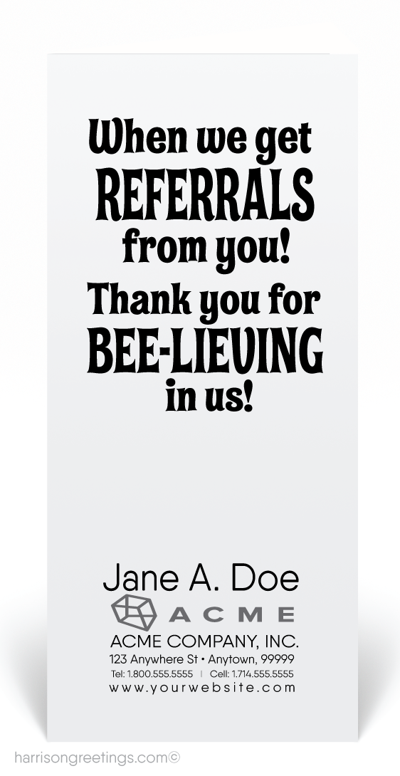 Thank You For Your Referrals Card 80110 Ministry Greetings